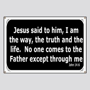 Bible verse John 14:6 Banner