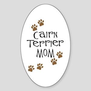 Cairn Terrier Mom Oval Sticker