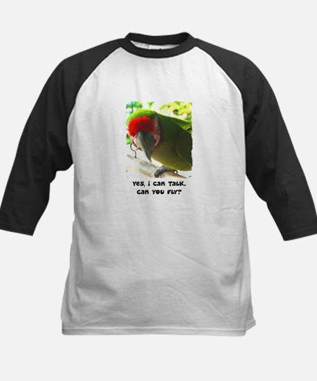 Can You Fly Military Macaw Kids Baseball Jersey