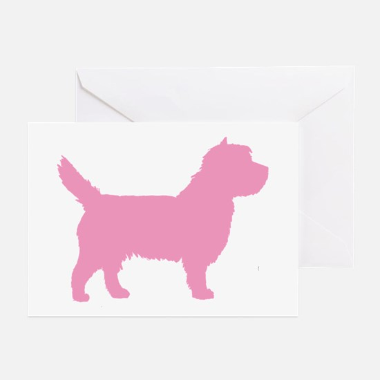 Pink Cairn Terrier Dog Greeting Cards (Pk of 10)