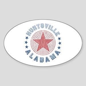 Huntsville, Alabama Souvenir Oval Sticker