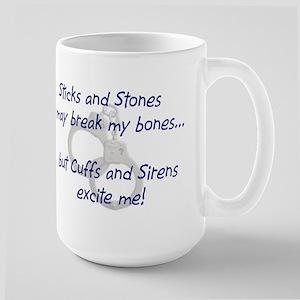 cuffs and sirens Mugs