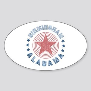 Birmingham Alabama Souvenir Oval Sticker
