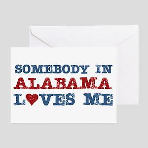 Somebody in Alabama Loves Me Greeting Card