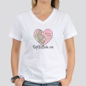 Cafe LaLeche Women's V-Neck T-Shirt