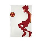 Soccer Boy Rectangle Magnet (100 pack)
