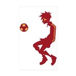 Soccer Boy Rectangle Sticker 50 pk)