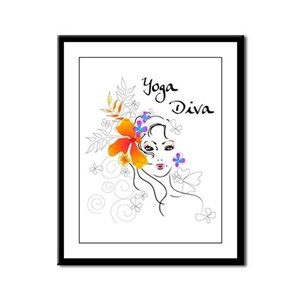 Yoga Diva Framed Panel Print