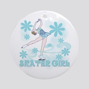 Skater Girl Ornament (Round)