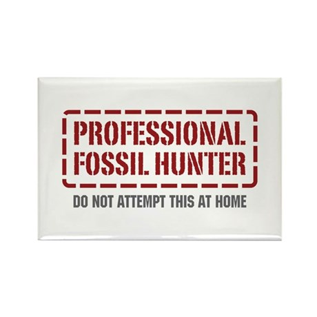 Professional Fossil Hunter Rectangle Magnet (10 pa