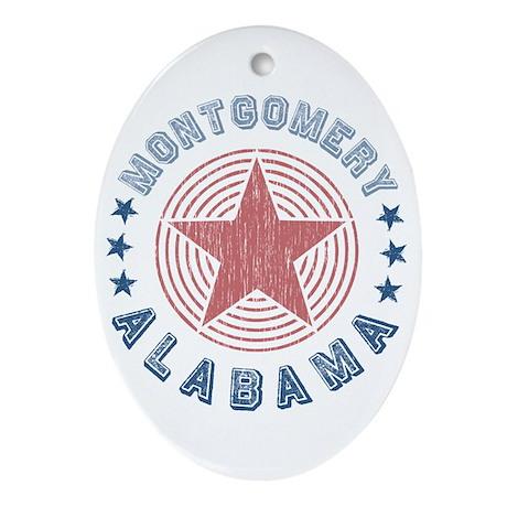 Montgomery, Alabama Souvenir Oval Ornament