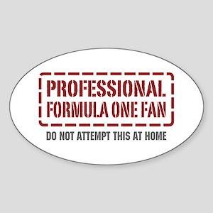 Professional Formula One Fan Oval Sticker