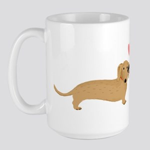 Dachshund Smooch Large Mug