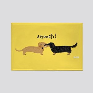 Dachshund Smooch Rectangle Magnet