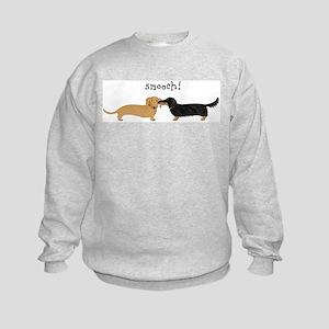 Dachshund Smooch Kids Sweatshirt