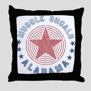 Muscle Shoals, Alabama Souvenir Throw Pillow