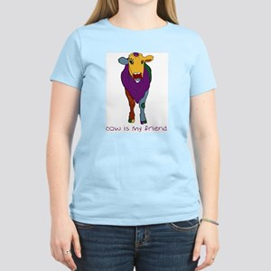 Cow Is My Friend Women's Pink T-Shirt