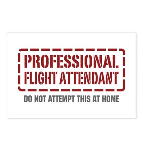 Professional Flight Attendant Postcards (Package o