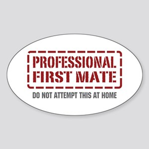 Professional First Mate Oval Sticker