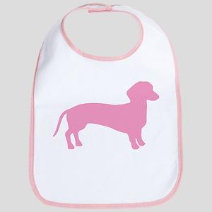 Pink Dachshund Dog Bib