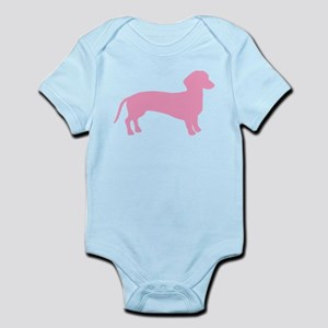 Pink Dachshund Dog Infant Bodysuit