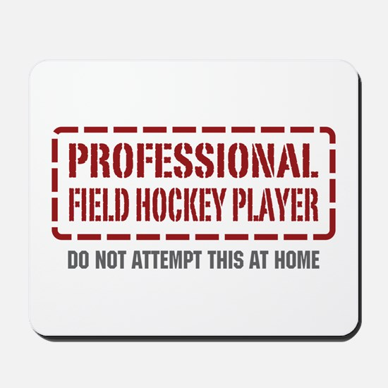Professional Field Hockey Player Mousepad