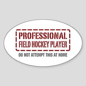 Professional Field Hockey Player Oval Sticker