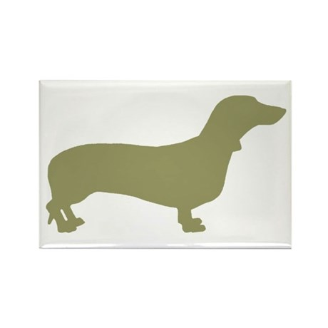 Sage Green Dachshund Rectangle Magnet (10 pack)