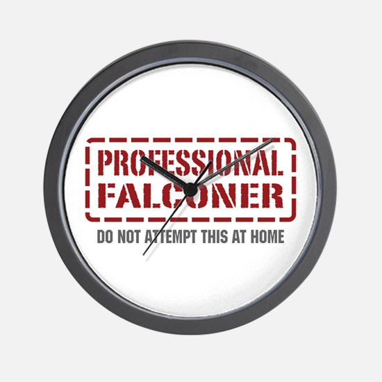 Professional Falconer Wall Clock