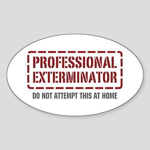 Professional Exterminator Oval Sticker