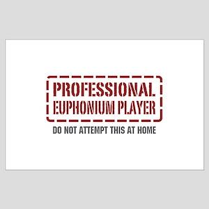 Professional Euphonium Player Large Poster