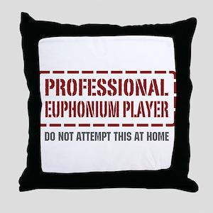 Professional Euphonium Player Throw Pillow