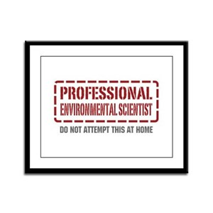 Professional Environmental Scientist Framed Panel