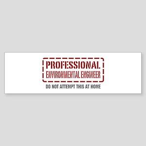 Professional Environmental Engineer Sticker (Bumpe