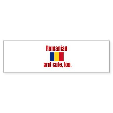 Cute Romanian Bumper Sticker