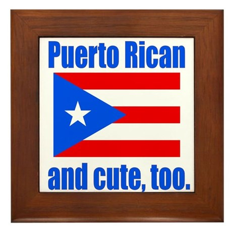 Cute Puerto Rican Framed Tile