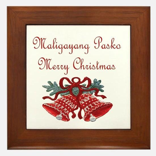 Filipino Christmas Framed Tile