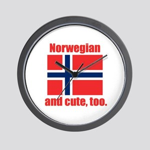 Cute Norwegian Wall Clock