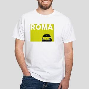 Roma - Fiat - chartreuse White T-Shirt