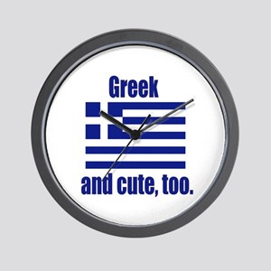 Cute Greek Wall Clock