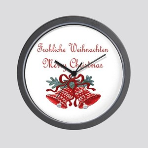 German Christmas Wall Clock