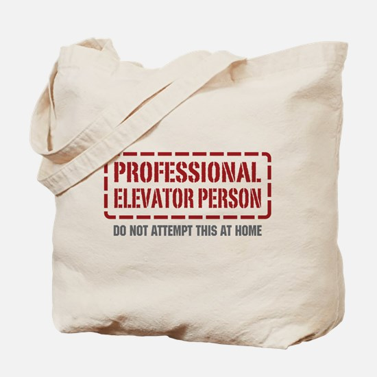 Professional Elevator Person Tote Bag