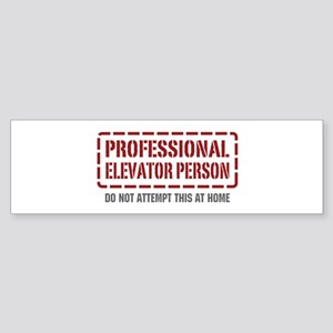 Professional Elevator Person Bumper Sticker