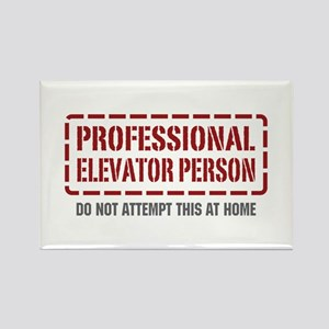 Professional Elevator Person Rectangle Magnet