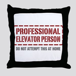 Professional Elevator Person Throw Pillow