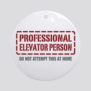 Professional Elevator Person Ornament (Round)
