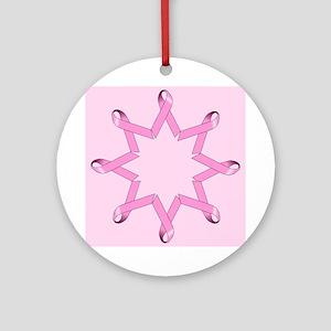 Ribbon Circle Ornament (Round)