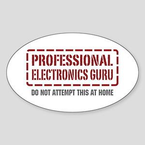 Professional Electronics Guru Oval Sticker