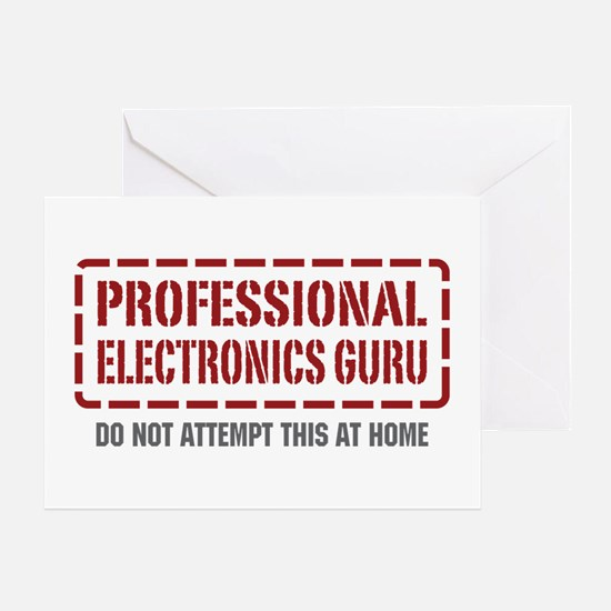 Professional Electronics Guru Greeting Card