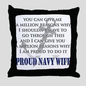 A Million Reasons (Proud Navy Throw Pillow